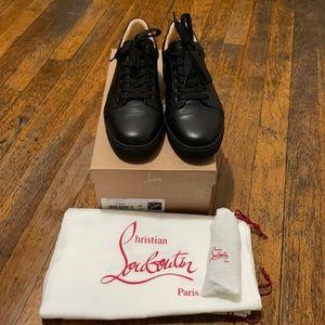 Christian Louboutin Vieira Flat Calf Sneakers Noir